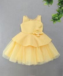M'Princess Shimmer Party Dress - Yellow
