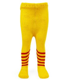 Babyhug Stripe Footed Stockings Tights - Yellow