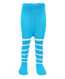 Babyhug Stripe Footed Stockings Tights - Blue