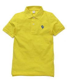 ToffyHouse Half Sleeves T-Shirt Deer Embroidery - Lemon