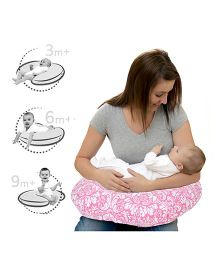 Lulamom Breast Feeding Nursing U Pillow - Pink