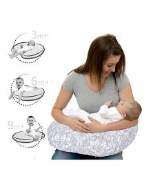 Lulamom Breast Feeding Nursing U Pillow - Grey