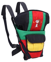 3 Way Baby Carrier Embroidery Detail - Red And Green