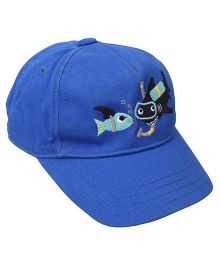 Little Wonder Fish Printed Cap - Blue