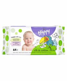 Bella Baby Wet Wipes Silk N Cotton - 64 Pieces