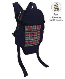 3 Way Baby Carrier Red & Yellow Checks - Navy Blue