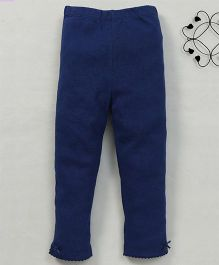 Yiyi Garden Solid Pattern Leggings - Blue