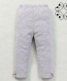 Yiyi Garden Solid Pattern Leggings - Grey