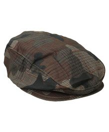 Little Wonder Military Print Cap - Brown