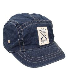 Little Wonder Rock The Boat Print Cap - Navy Blue