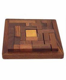 Desi Karigar Handmade Wooden Jigsaw Puzzle - Brown