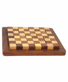 Desi Karigar Wooden Chess Style Puzzle Game - 9 Pieces