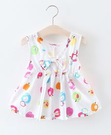 Pre Order - Awabox Apple Print Dress - White