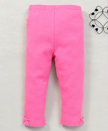 Yiyi Garden Solid Pattern Leggings - Hot Pink