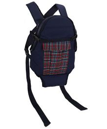 3 Way Baby Carrier Checks Design - Navy Blue & Red