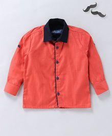 Knotty Kids Full Sleeves Shirt - Orange