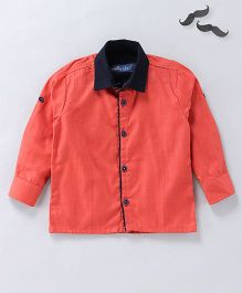 Knotty Kids Full Sleeves Shirt - Orange