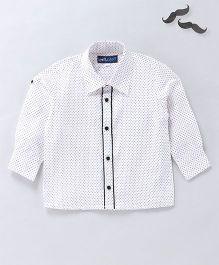 Knotty Kids Dot Print Shirt - White