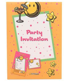 Archies Party Invitation Cards Pack of 20 - Yellow