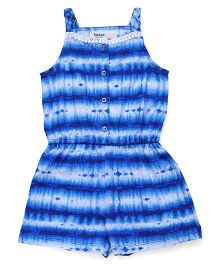 Beebay Singlet Jumpsuit With Designer Neckline - Blue