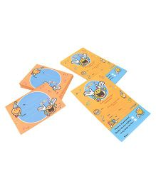 Archies Party Invitation Cards - Yellow Blue