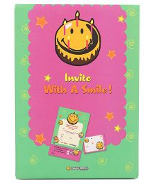Archies Party Invitation Cards - Green Pink
