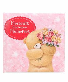 Archies Scrap Book Teddy Print- Pink