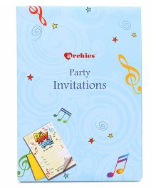 Archies Party Invitation Cards - Blue