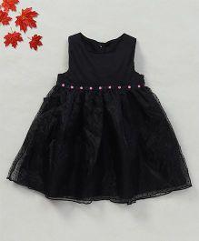 YiYi Garden Dot Print Dress - Black