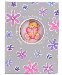 Archies Note Book Floral Printed - Grey