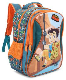 Chhota Bheem School Bag Green Orange- 16 Inch
