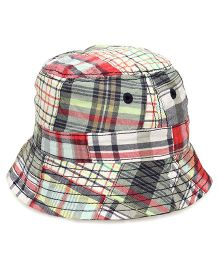 Little Wonder Plaid Print Hat - Multicolour