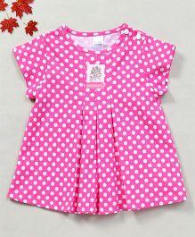 YiYi Garden Dot Print Dress - Pink