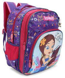 Chhota Bheem School Bag Pink And Purple - 16 Inch