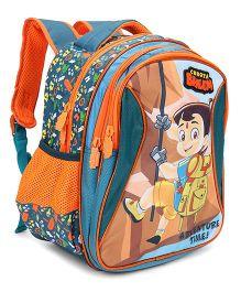 Chhota Bheem School Bag Green Orange- 14 Inch