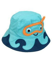 Little Wonder Cute Design Print Hat - Turquoise