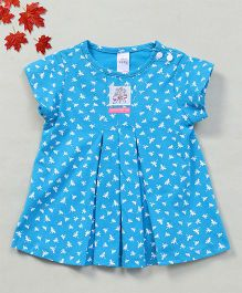 YiYi Garden Dragonfly Print Dress - Blue