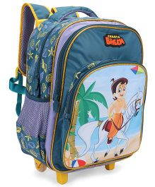 Chhota Bheem Trolley Bag Green Sky Blue - 16 inch