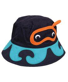 Little Wonder Cute Design Print Hat - Dark Blue