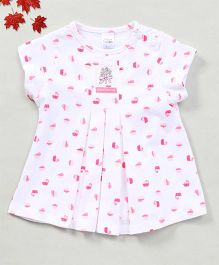 YiYi Garden Cupcake Print Dress - White