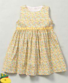 YiYi Garden Flower Print Dress - Yellow