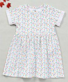 YiYi Garden Dew Drop Print Dress - White