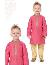 Ethnik's Neu Ron Kurta Pyjama Set - Pink Beige