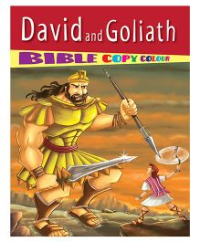David And Goliath Bible Copy Colour Book - English