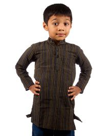 Pikaboo Full Sleeves Stripes Kurta - Black