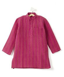 Pikaboo Full Sleeves Stripes Kurta - Pink