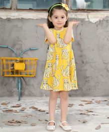 Pre Order - Awabox Leopard Print Dress - Yellow