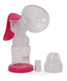 Morisons Baby Dreams Wide Mouth Manual Breast Pump - Pink White