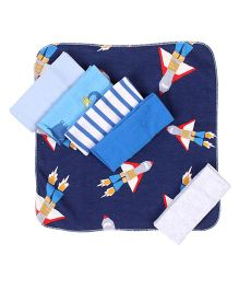 Ben Benny Wash Cloth Pack Of 6 - Blue