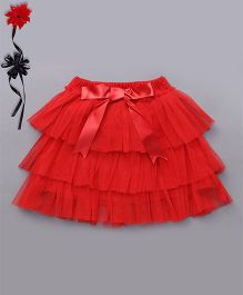 Ben Benny Tutu Skirt With Attached Bloomer - Red